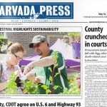 The front-page photo in the May 16, 2013 edition of the Arvada Press illustrates the first annual Sustain Arvada Festival.