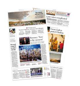 The Aug. 31, 2012 edition of the Omaha World-Herald updates readers on the 86,000-acre fire that threatened Chadron, Neb. during the summer of 2012.