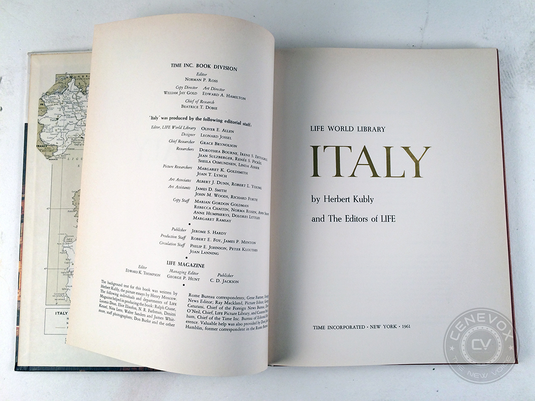 "A 1961 edition of LIFE World Library's ""Italy"" book details some of the culinary, architectural, and cultural aspects of Italian culture in the 1960s."