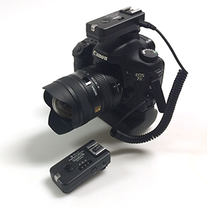 In the absence of subjects, a pair of wireless radio triggers can be useful in allowing the execution of conceptual imagery.